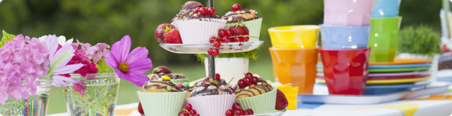 Find tips for making sure food options at kids parties are both CF and non-CF friendly